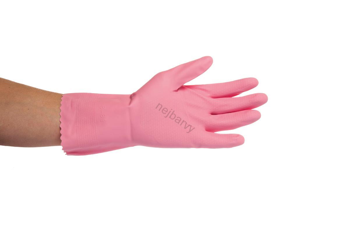 00957b21708 Gumové rukavice Jana č.8 vel M růžové