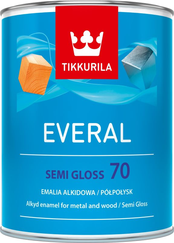 Tikkurila Everal semi gloss [70] 0.9l C DO VYPRODÁNÍ ZÁSOB