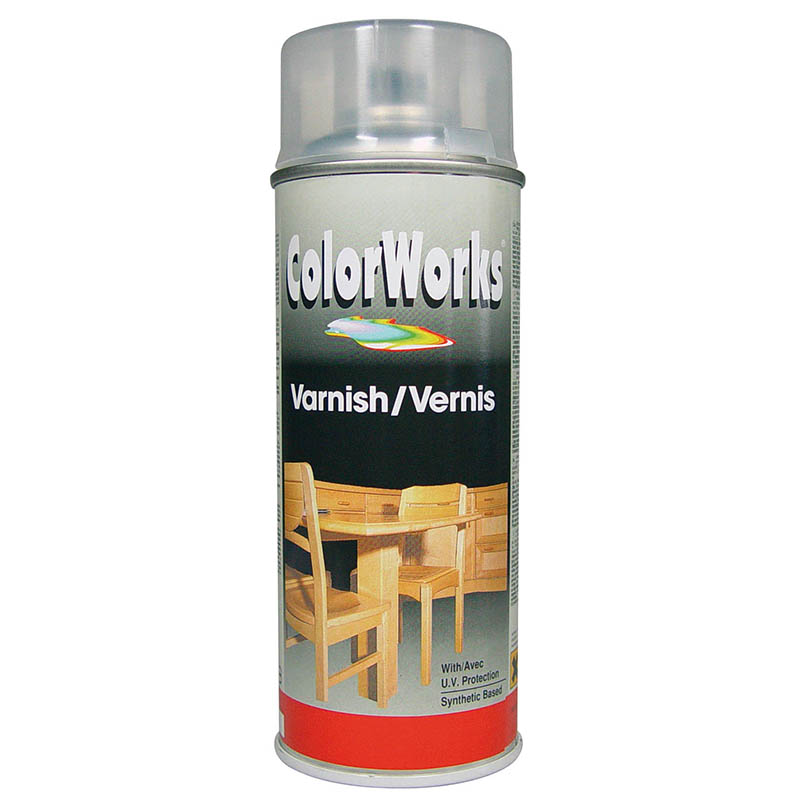 Motip ColorWorks Varnish bezbarvý lak pololesk 400ml
